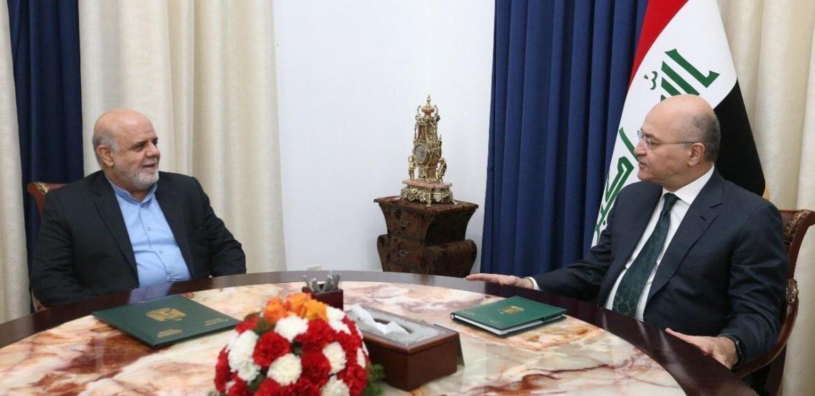 ملاقات سفیر ایران در عراق با برهم صالح
