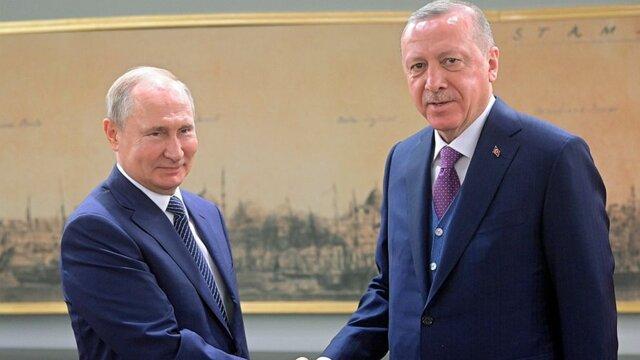 اردوغان در تماس با پوتین: حمله به نیروهای ترکیه ضربه ای بر کوشش های مشترک در سوریه است