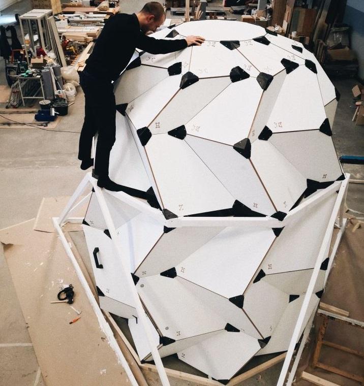ساختمانی با الهام از اوریگامی برای زندگی روی ماه