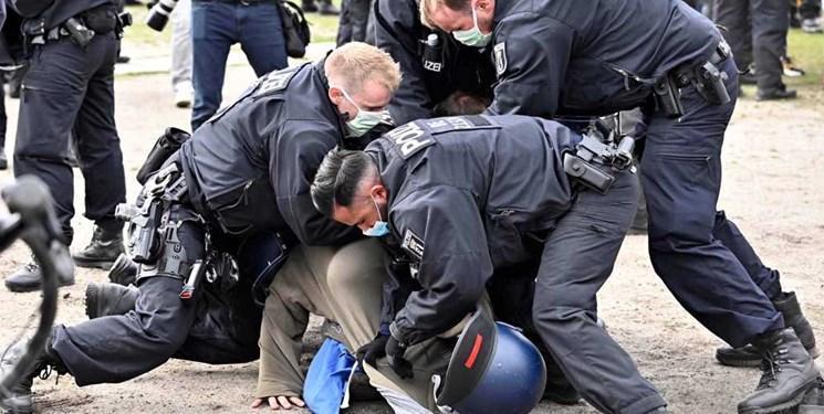 تظاهرات ضد قرنطینه ای در اروپا؛ پلیس آلمان 60 نفر را بازداشت کرد