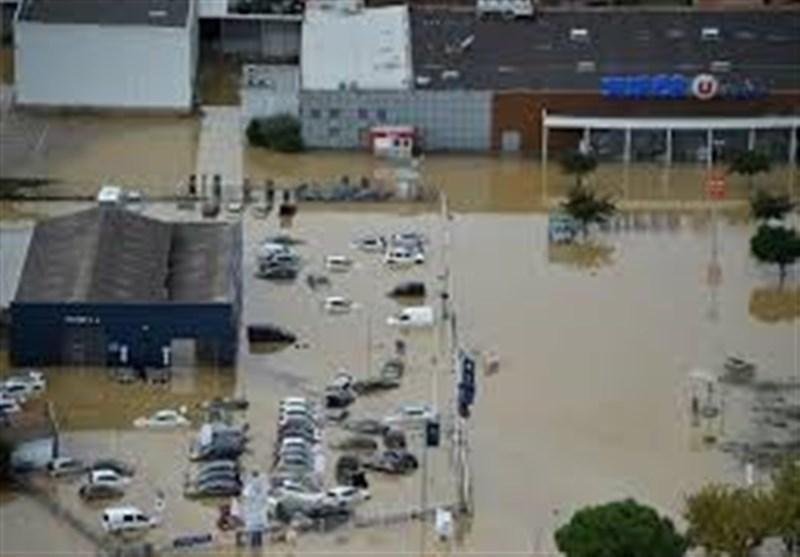 8 نفر در فرانسه بر اثر جاری شدن سیل ناپدید شدند