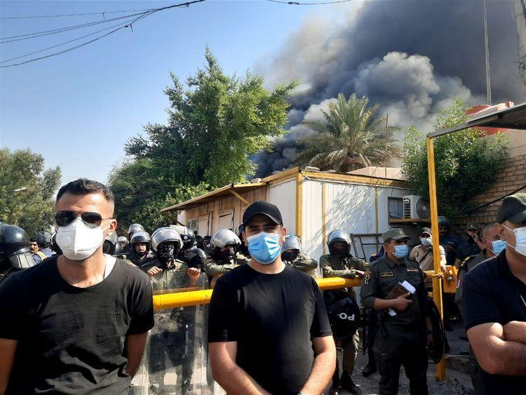 به آتش کشیدن دفتر حزب دموکرات کردستان در عراق