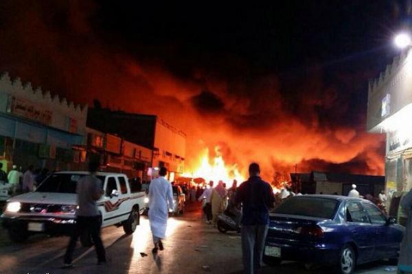 آتش سوزی در یکی از پایانه های نفتی عربستان