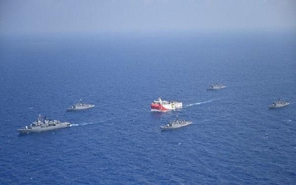 تقابل ناو نیروی دریایی آلمان در مدیترانه با کشتی باری ترکیه
