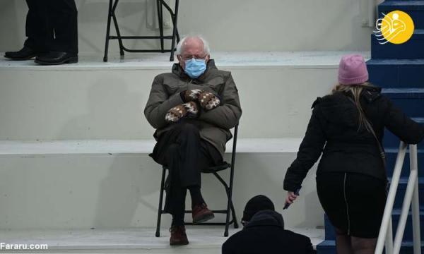 (ویدئو) برنی سندرز با دستکش های بافتنی سوژه شد