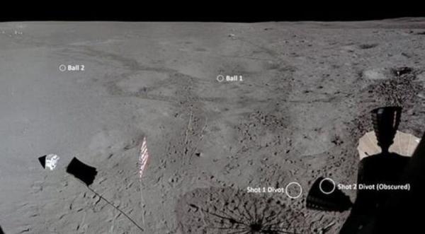 (تصاویر) توپ گمشده گلف در ماه پیدا شد