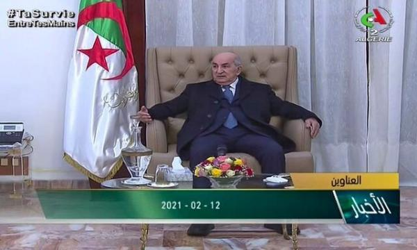 رئیس جمهور الجزایر به کشورش بازگشت